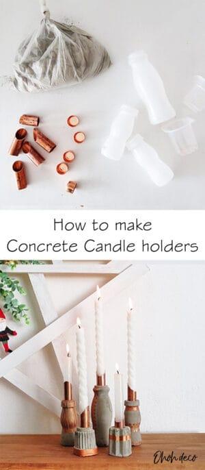 concrete candle holder diy