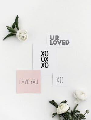modern valentine cards