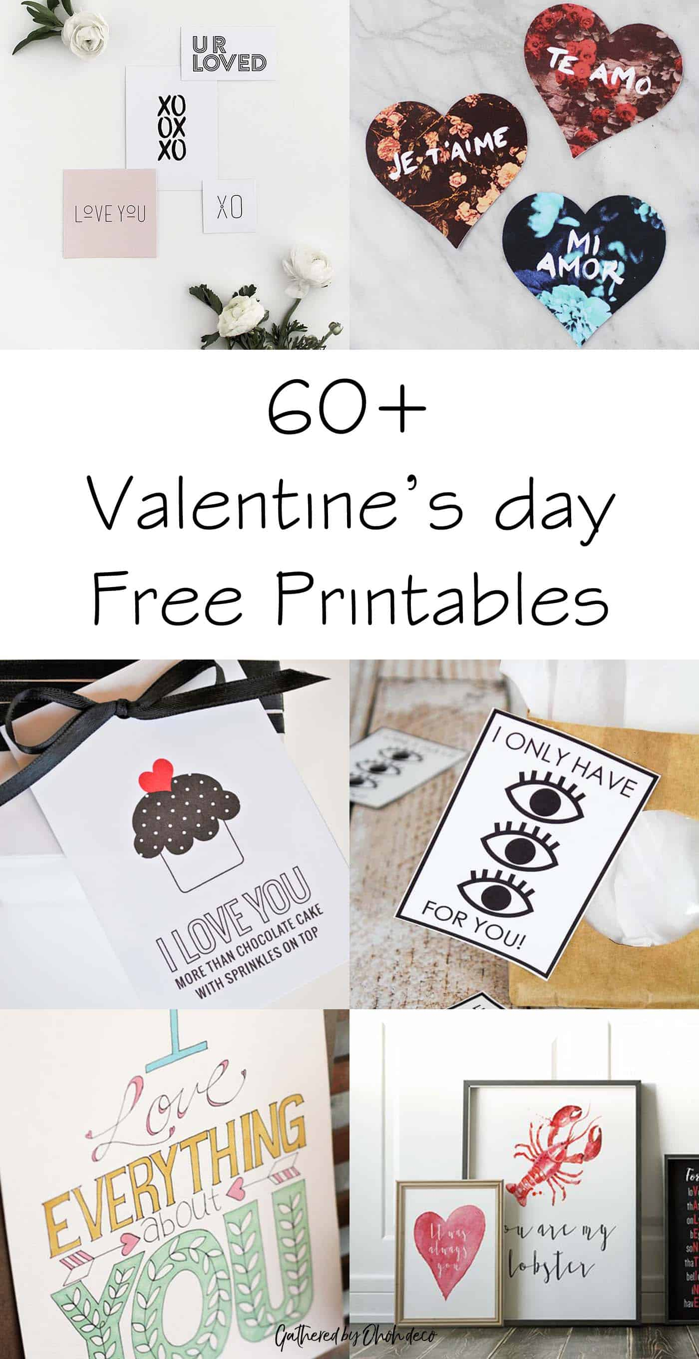 60 free prints for valentine's day