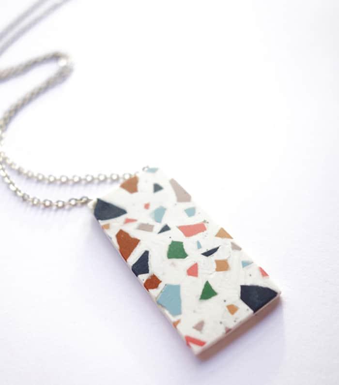 terrazzo necklace