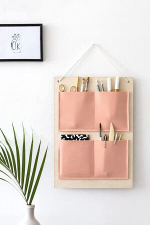 diy hanging organizer for office