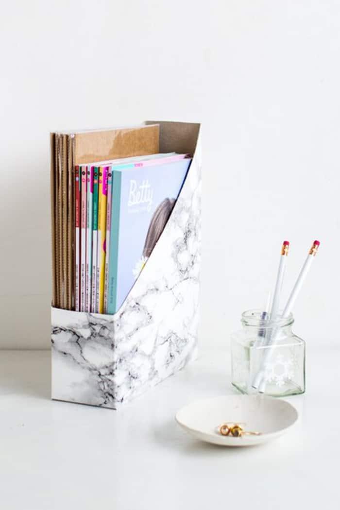 diy magazine box