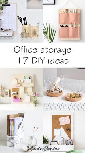 diy office storage ideas