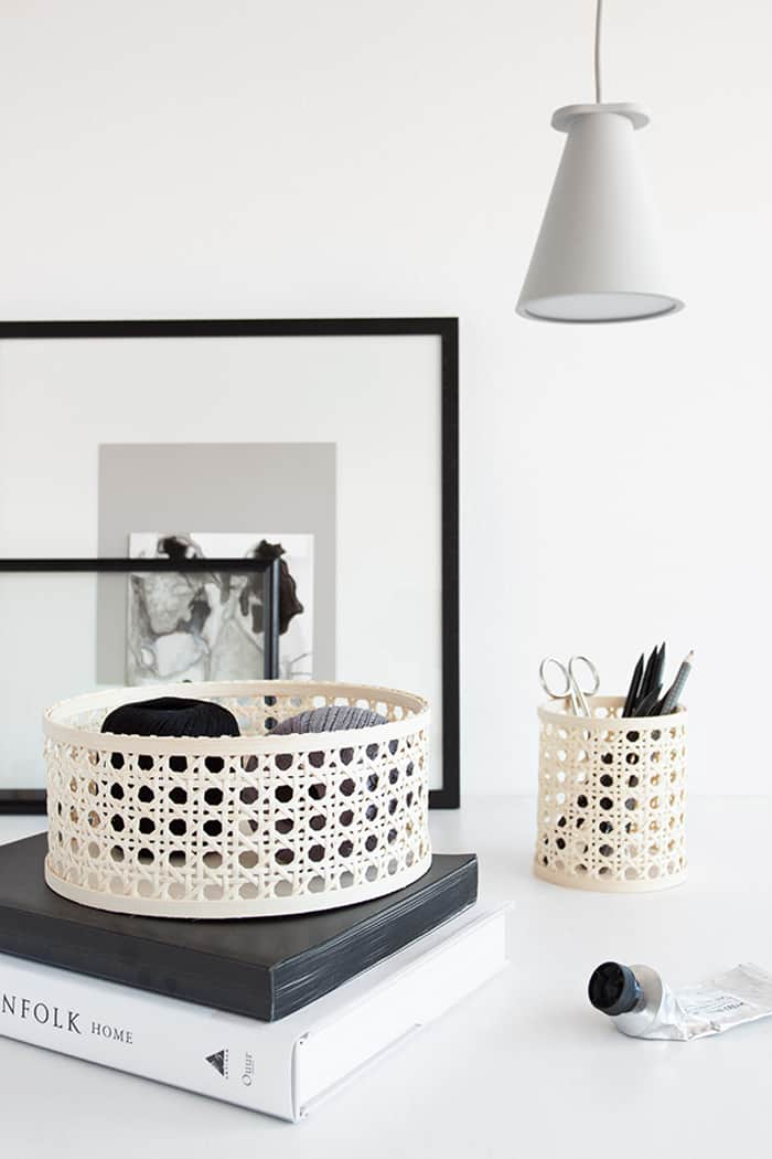 diy rattan basket