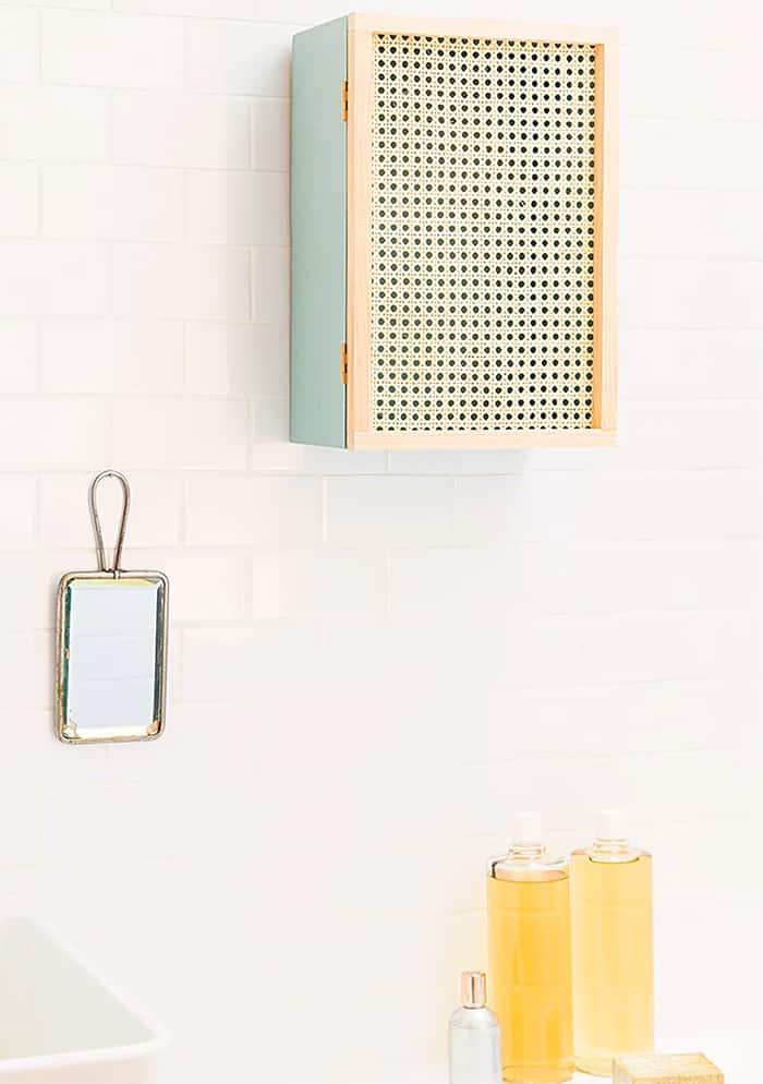 diy rattan wall cabinet