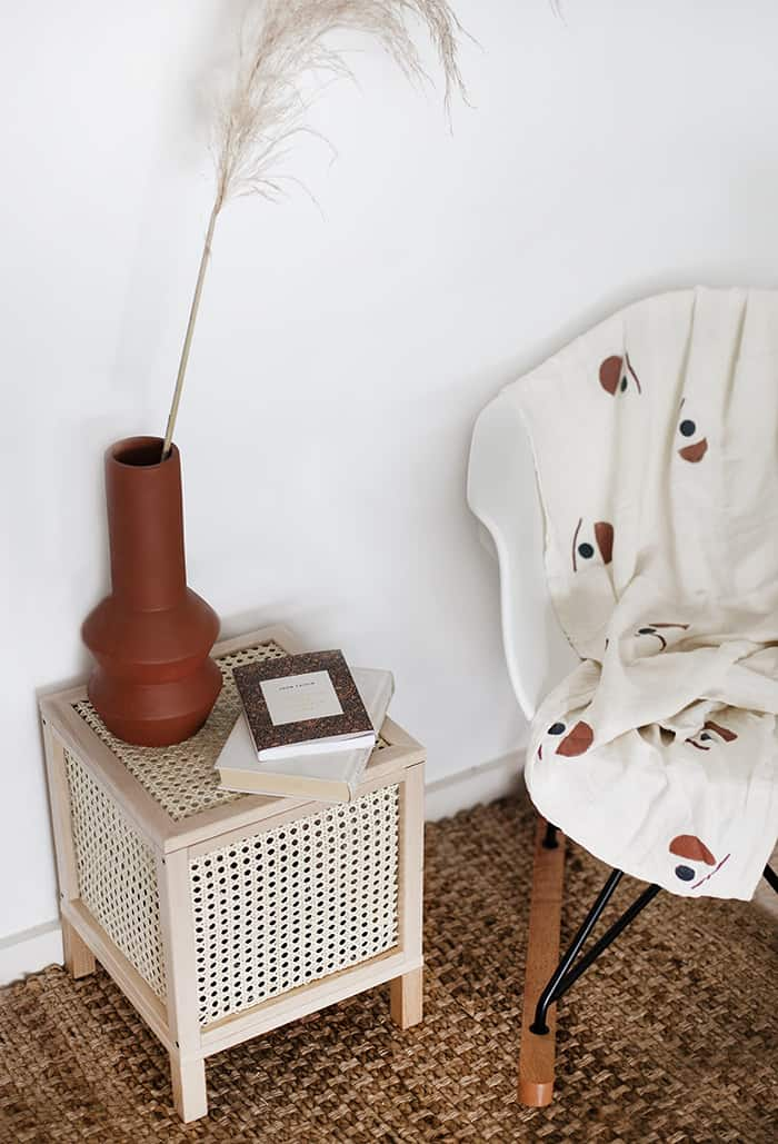 diy rattan storage box