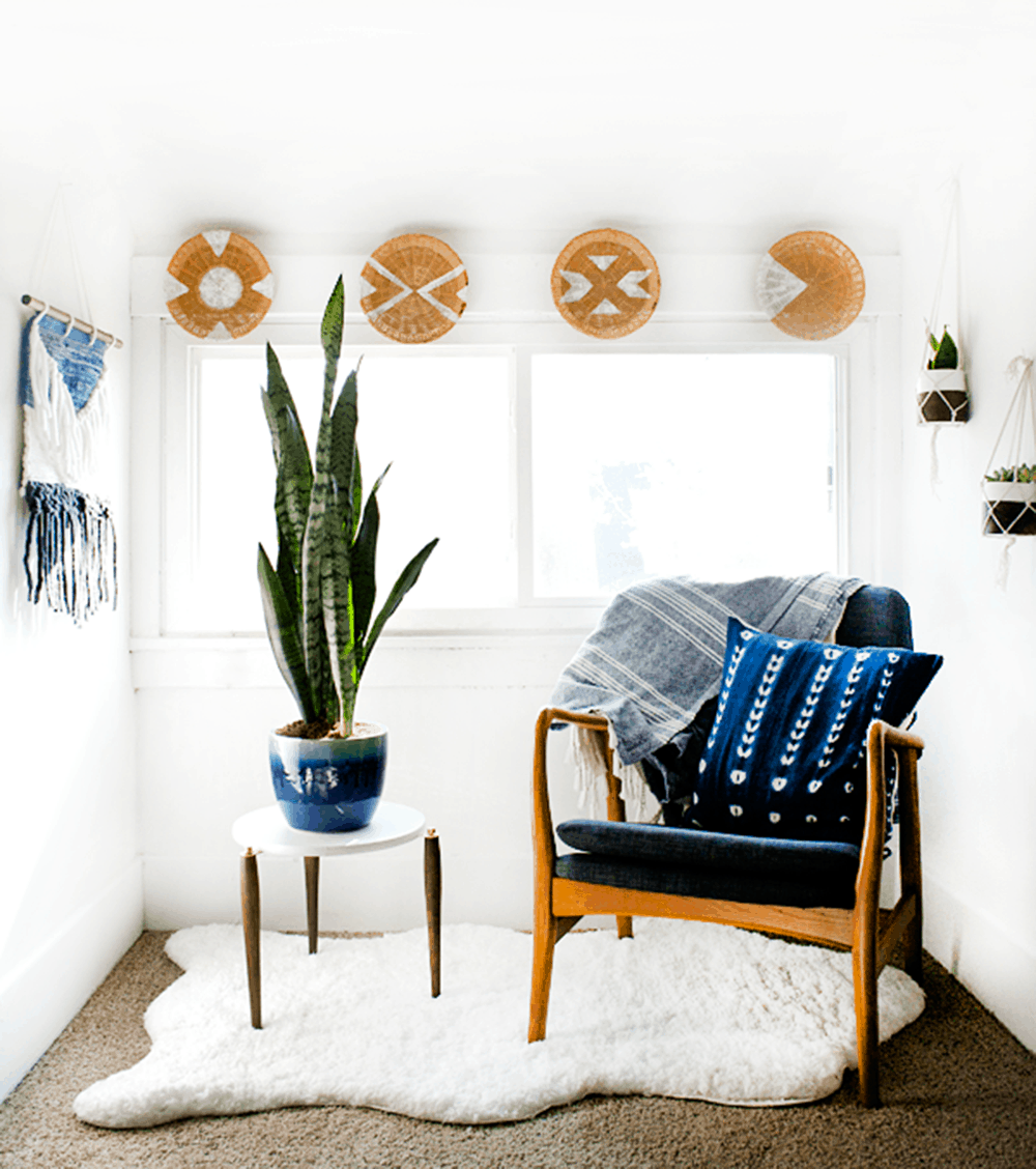 diy rattan basket wall decor