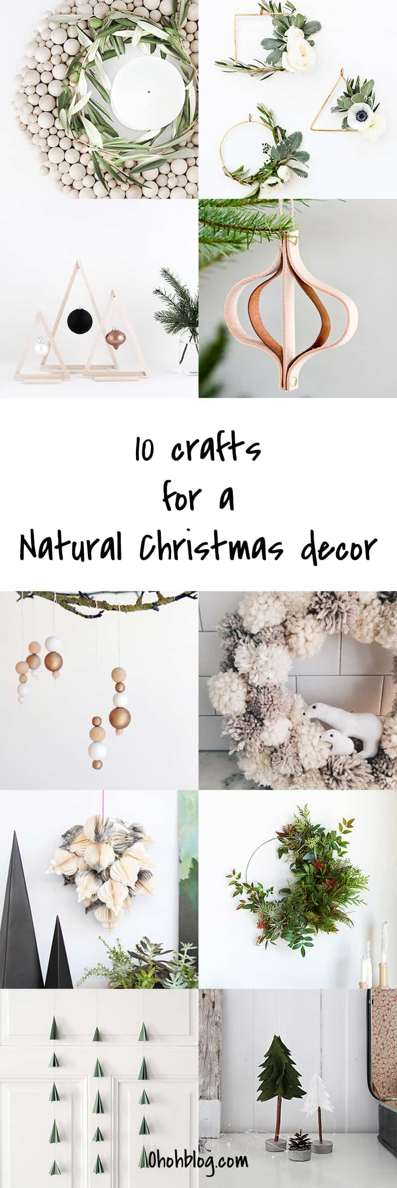 10 DIY Natural hygge Christmas decor