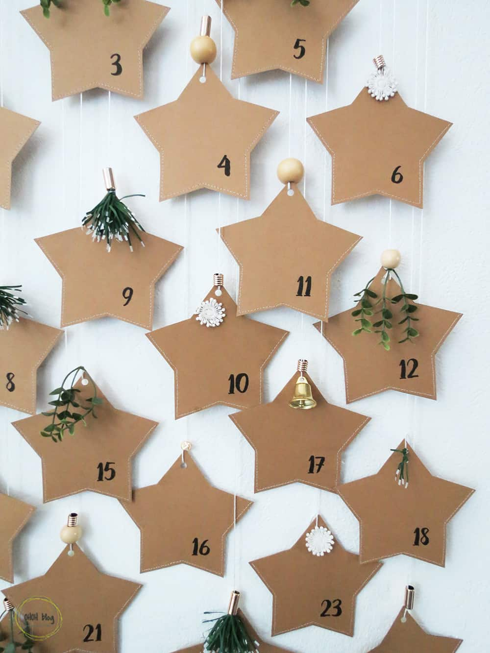 DIY Paper Star Advent Calendar
