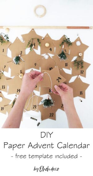 DIY paper advent calendar - Free template
