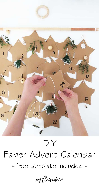 DIY paper advent calendar - Free template