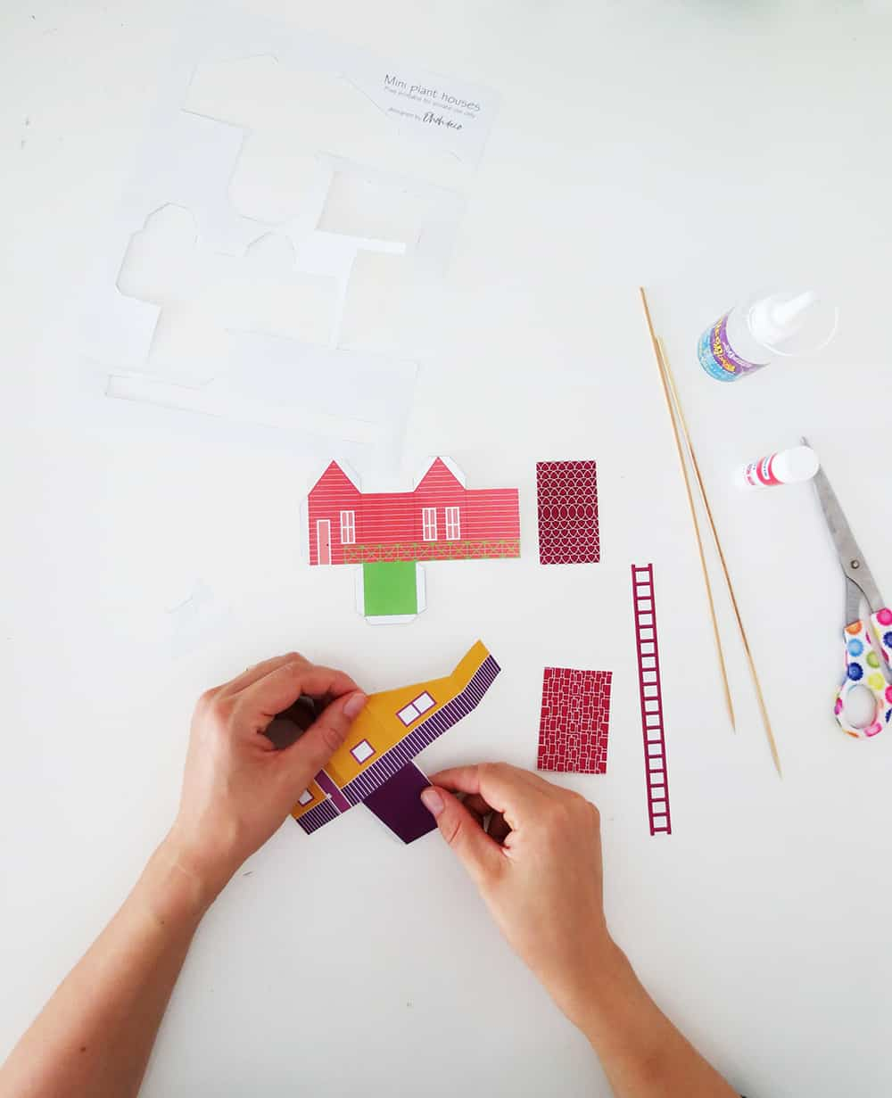 fold the printable house
