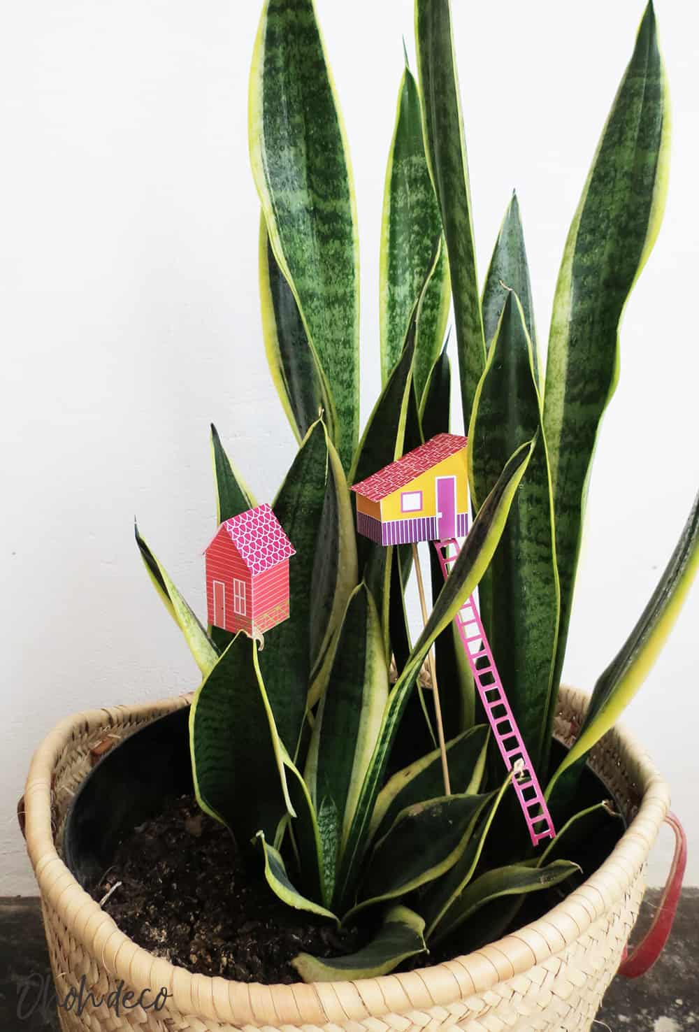 free house printable to decorate planters