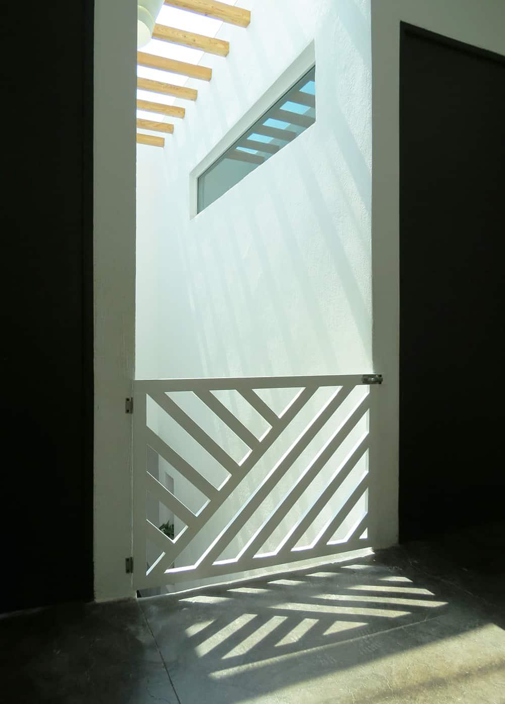 DIY modern baby gate