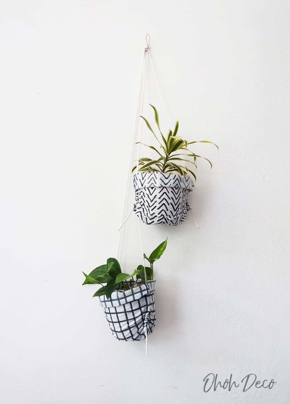 hanging two fabric planter