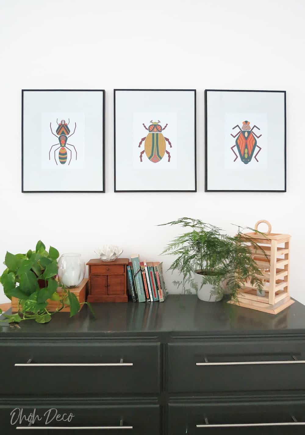 bug wall art prints