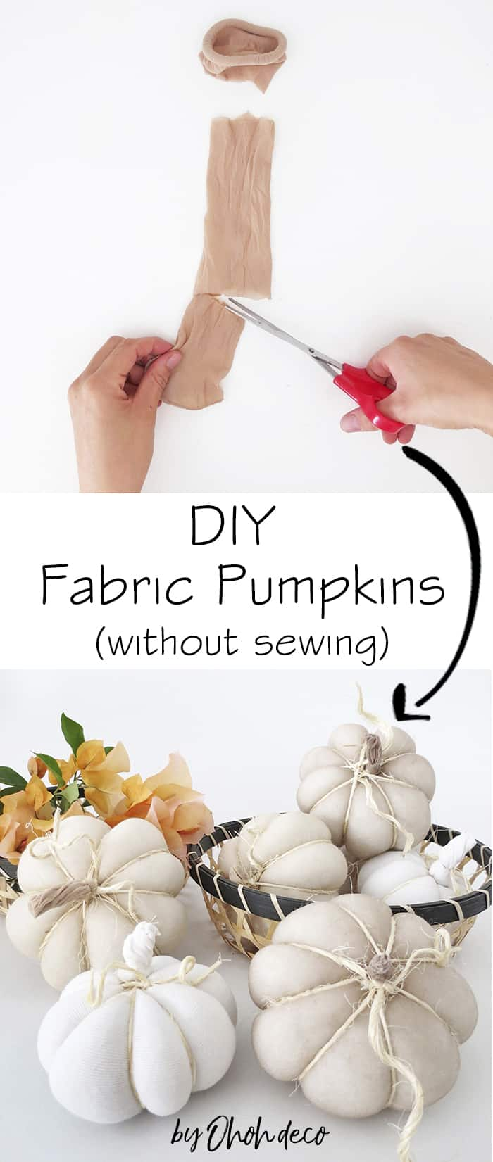 how to make fabric pumpkins without sewing