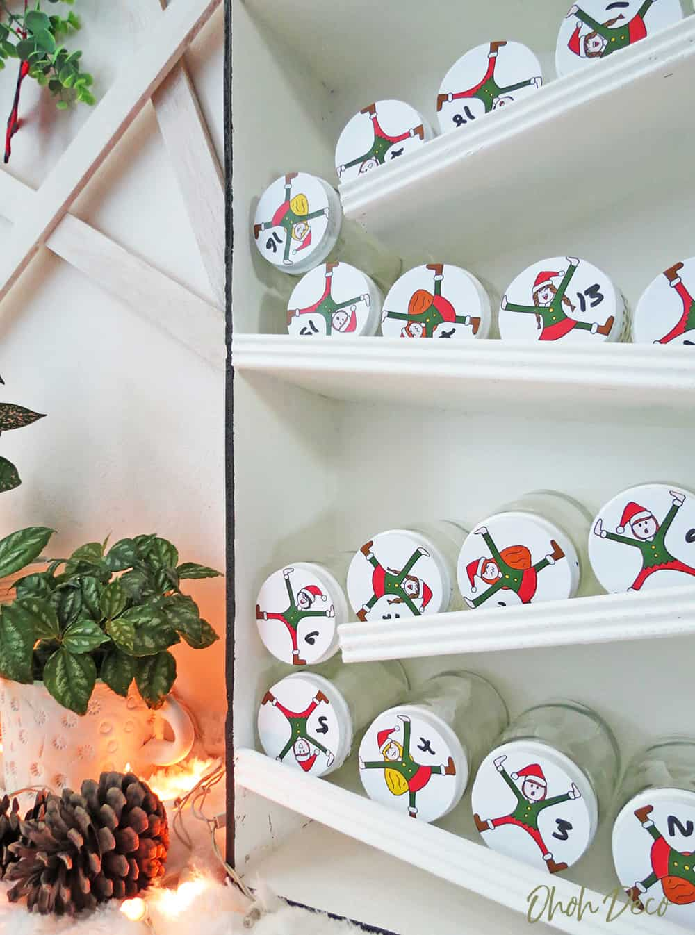 DIY Elves advent calendar