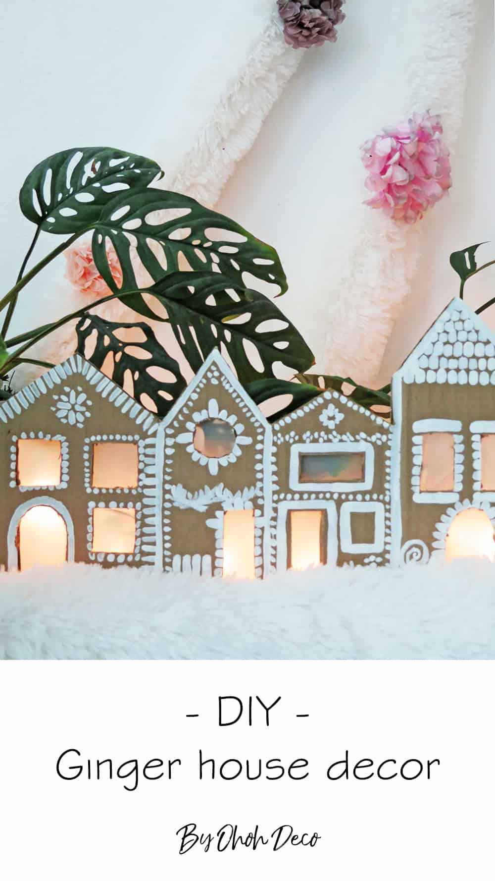 How to make a Christmas ginger house decor with cardboard