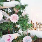 DIY printed paper Christmas ornaments