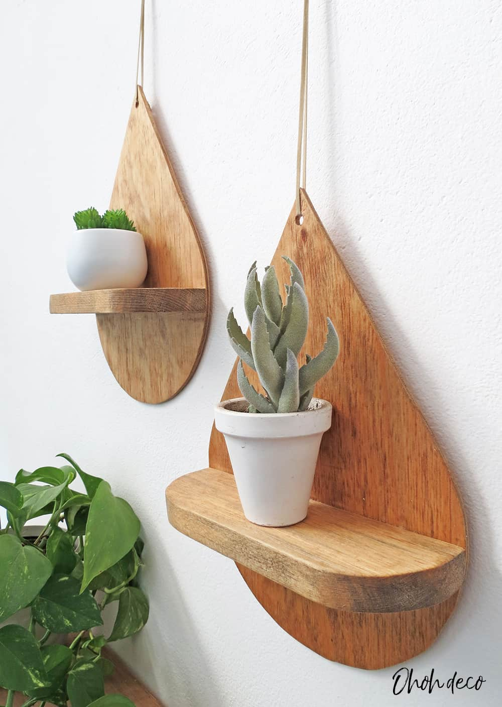 diy drop shape shelf