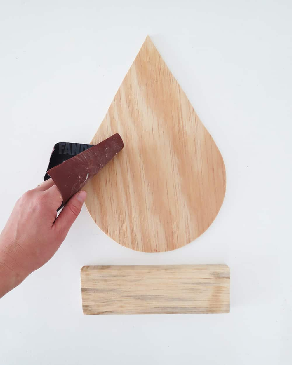 sanding drop shelf