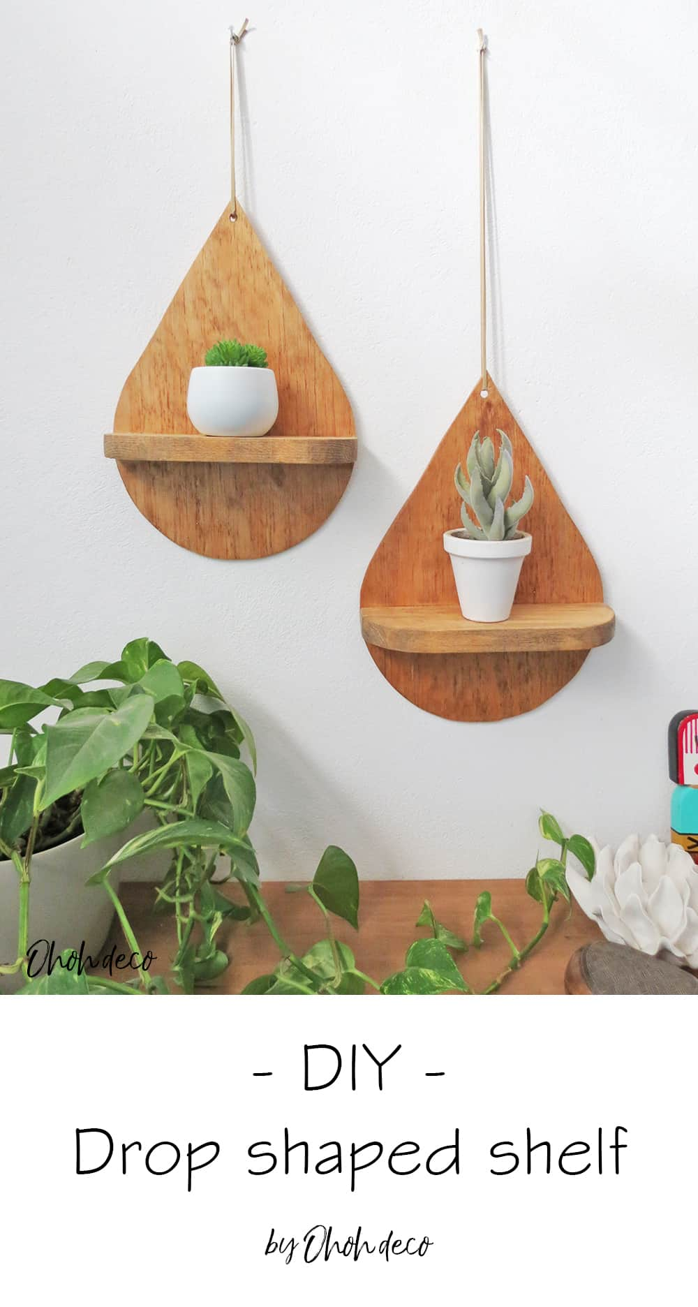 diy decorative drop shelf