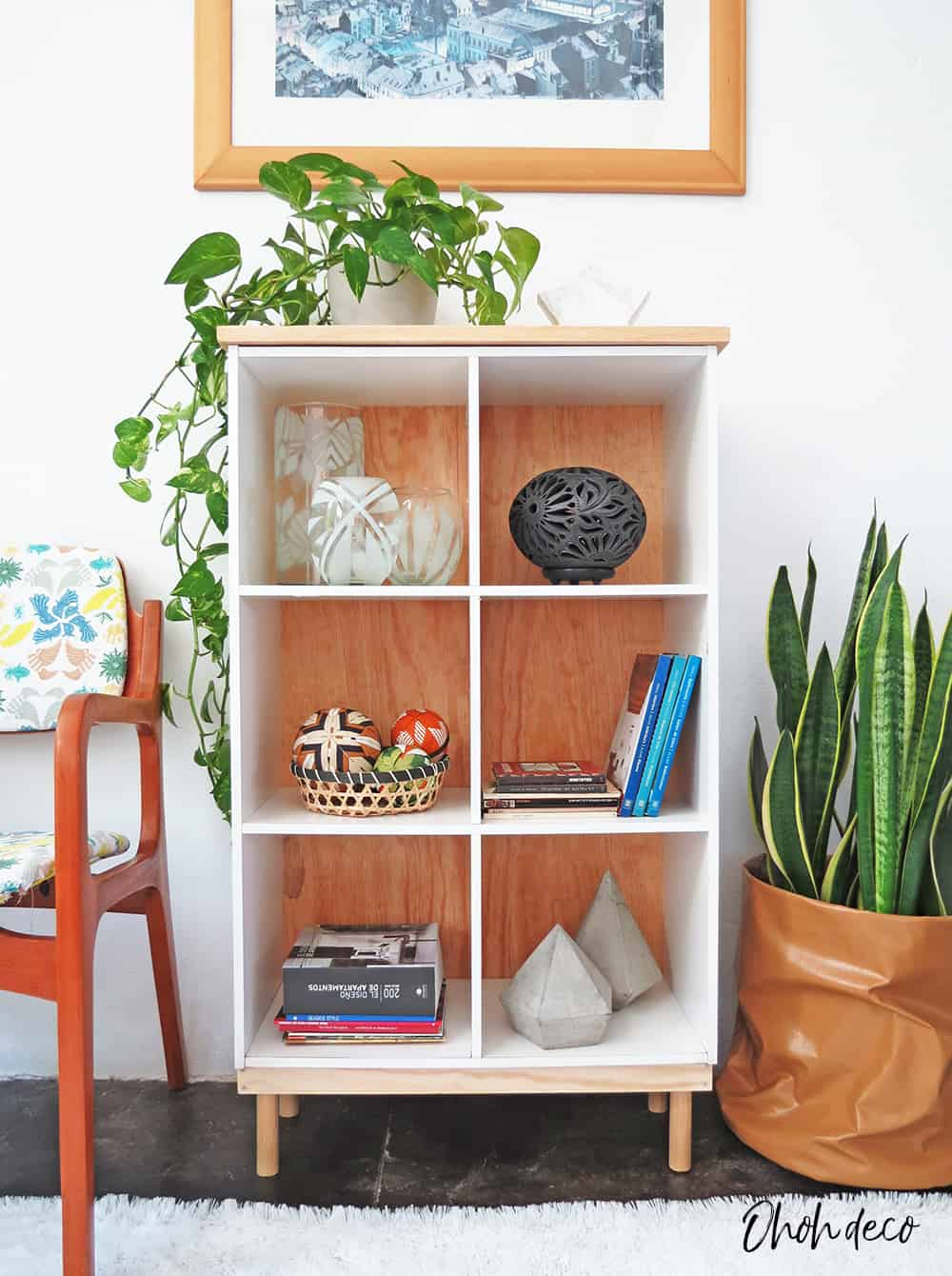 Easy shelf unit makeover