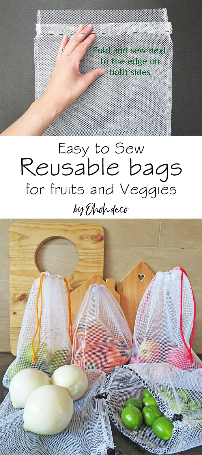 easy to sew reusable bag