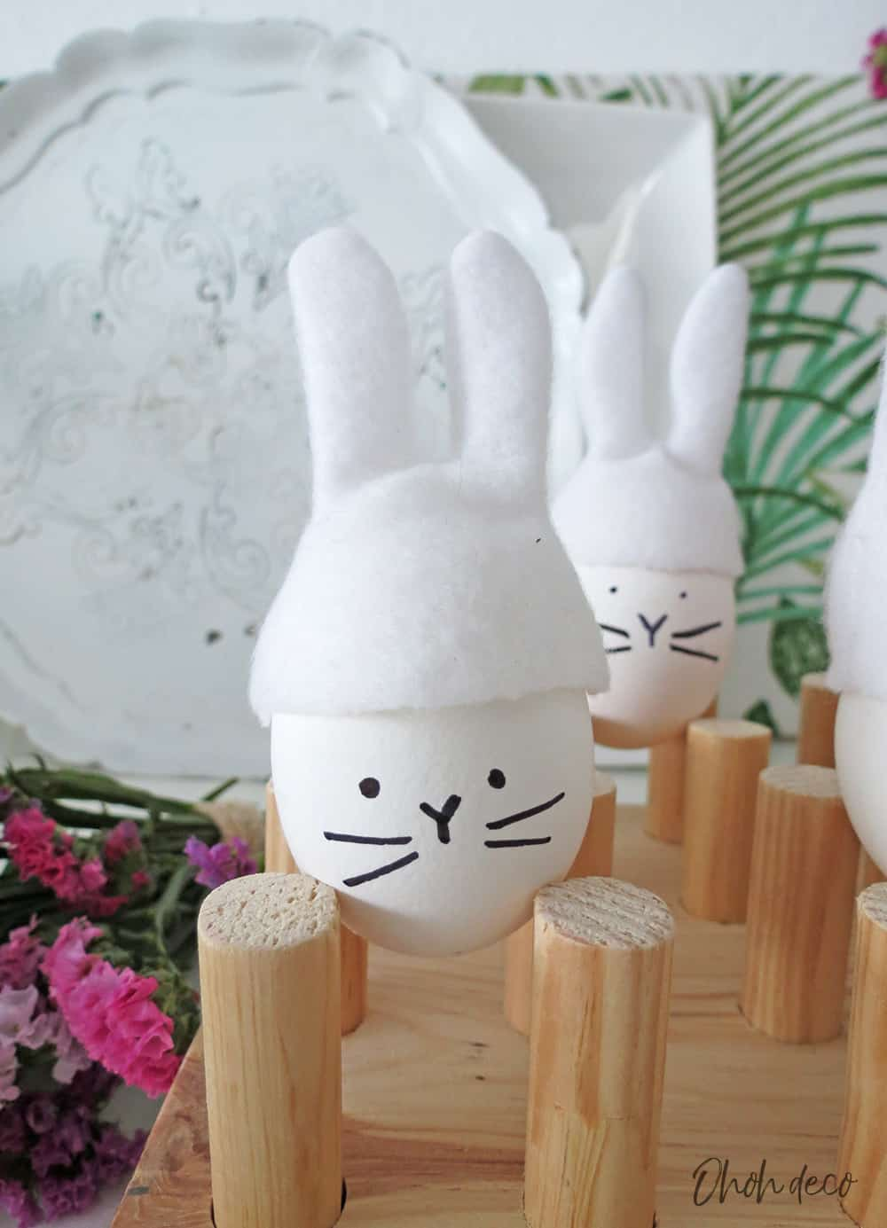 DIY Easter bunny eggs decoration