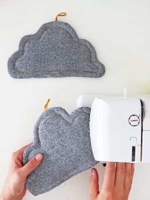 cloud potholder free sewing pattern