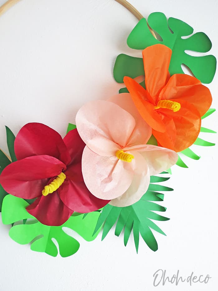 How to make tropical paper flowers