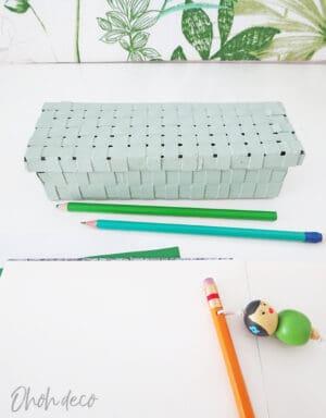 DIY recycled pencil box