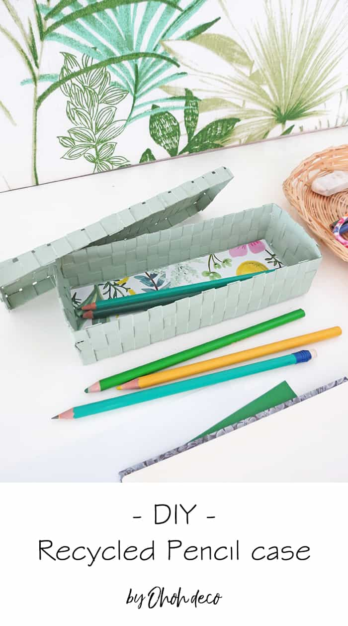 DIY recycled pencil box