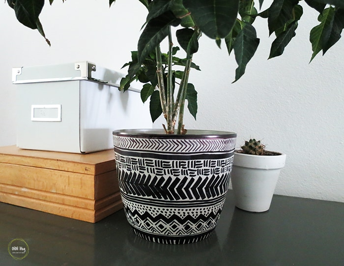 mud cloth planter