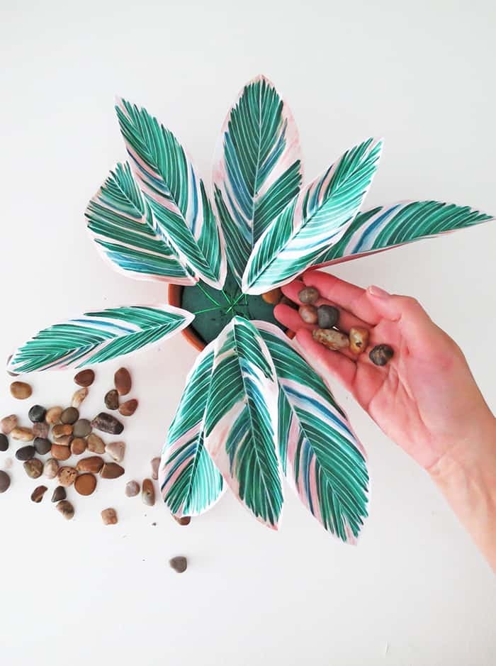 how to make diy paper plant add peables