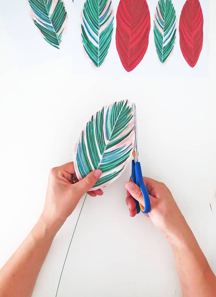 how to make diy paper plant trim leaf edge