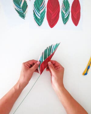 how to make diy paper plant give the leaf shape