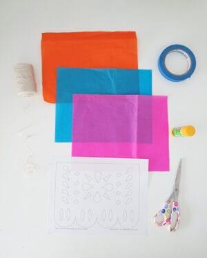 how to make diy papel picado material
