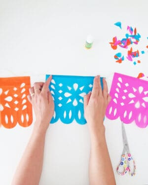 how to make diy papel picado garland