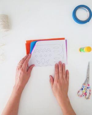 how to make diy papel picado free template