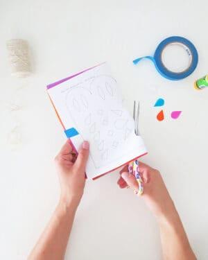 how to make diy papel picado step by step