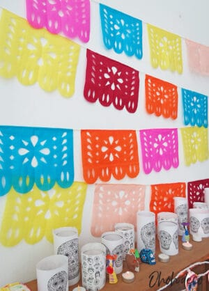 how to make diy papel picado day of deaths