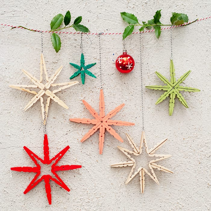 25 easy DIY Scandinavian Christmas Ornaments