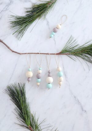 diy scandinavian christmas ornaments