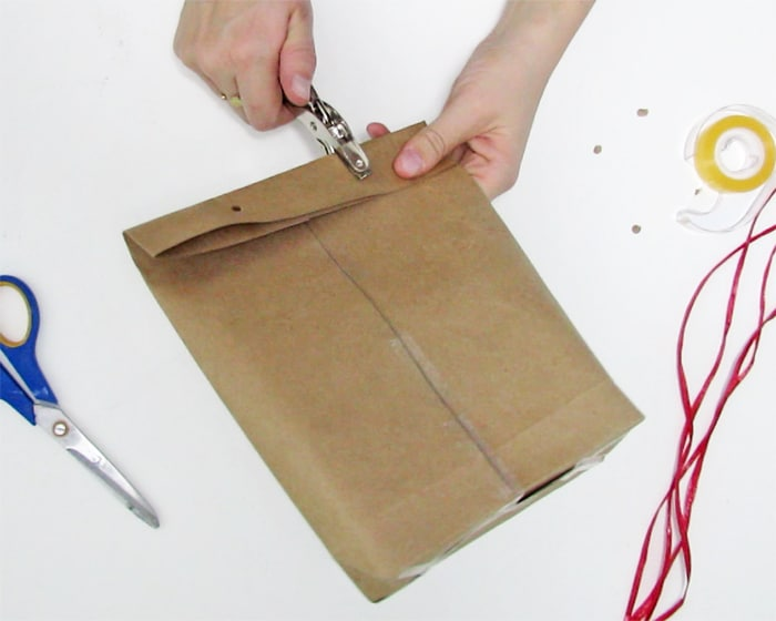 how to make a paper gift bag
