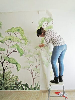 hanging wall mural