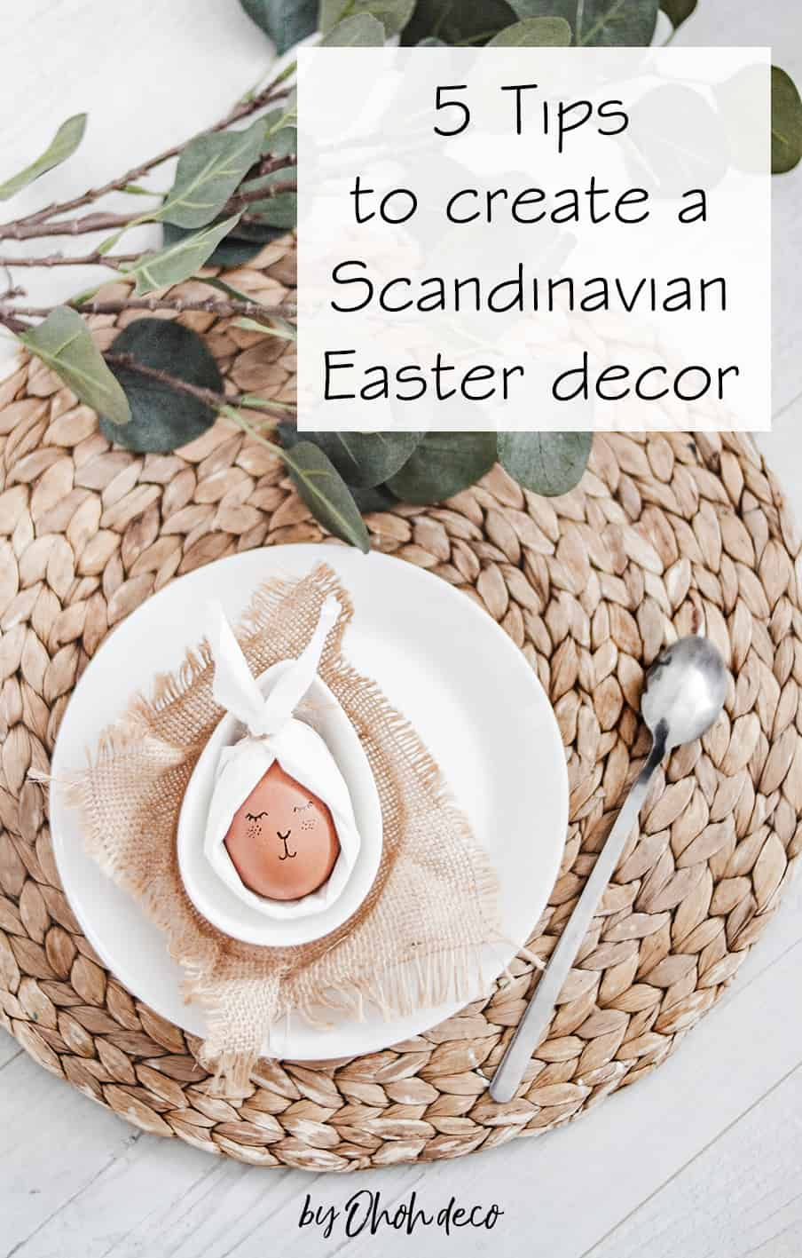 tips for a scandinavian easter decor