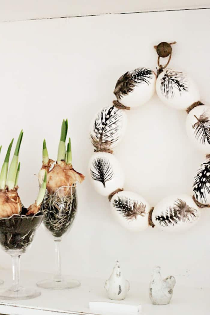 Egg wreath diy for easter