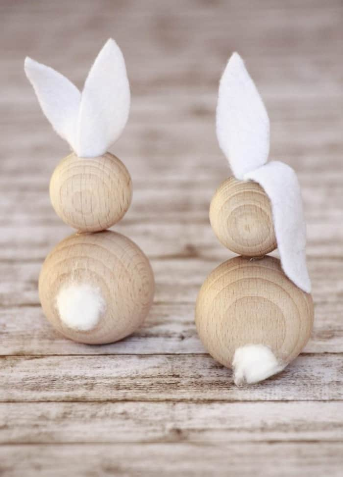 wooden beads bunny diy
